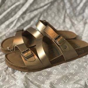 Shoes - Rose Gold Strappy Sandals